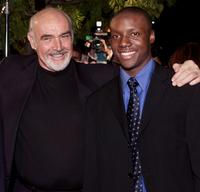 Sean Connery and Rob Brown at the premiere of