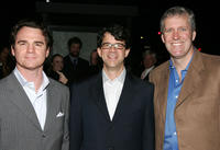 Marty Bowen, Wyck Godfrey and Mike Rich at the premiere of