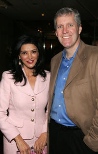 Shohreh Aghdashloo and Mike Rich at the premiere of