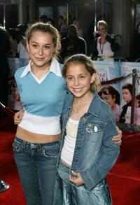 Alexa Vega and Makenzie Vega at the premiere of