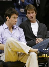 Jerry and Charlie O'Connell at the game between the Los Angeles Lakers and Clippers.