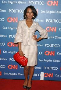 Kerry Washington at the CNN LA Times POLITICO Democratic Debate.