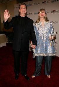 Brian Wilson and Melinda Wilson at the Clive Davis Annual Grammy Party.