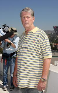 Brian Wilson at the press conference in California.