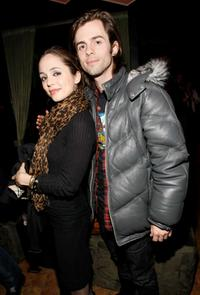 Eliza Dushku and Nate Dushku at the William Morris Agency Independent Sundance Party.