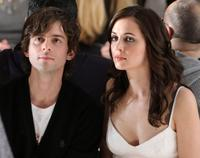 Nate Dushku and Eliza Dushku at the Peter Som 2008 fashion show during the Mercedes-Benz Fashion Week Fall 2008.