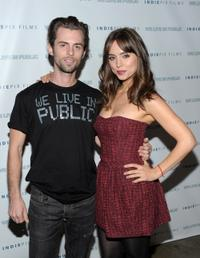 Nate Dushku and Eliza Dushku at the premiere of