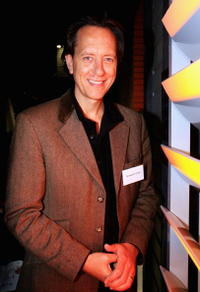 Richard E. Grantat at the Sydney Writers Festival opening night party at Simmer on the Bay.