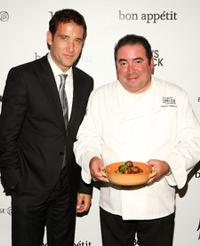 Clive Owen and Emeril Lagasse at the premiere of