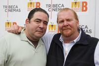 Emeril Lagasse and Mario Batali at the screening of