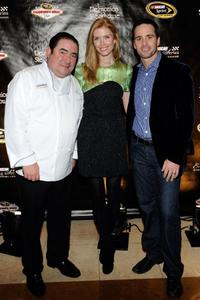 Emeril Lagasse, Chandra Johnson and Jimmie Johnson at the NASCAR Evening with Emeril Lagasse.