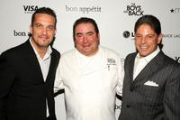Fabio Viviani, Emeril Lagasse and Bill Terlato at the premiere of