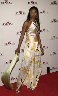 Heather Headley at the BMG Post-Grammy party.