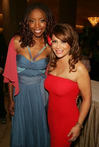 Heather Headley and Paula Abdul at the 32nd Annual Vision Awards.