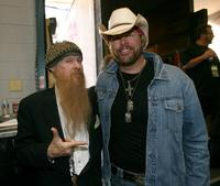 Billy Gibbons and Toby Keith at the 42nd Annual Academy Of Country Music Awards.