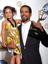 Kristoff St. John and his Daughter Lola at the 35th Annual Daytime Emmy Awards.