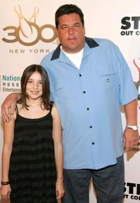 Sierra and her father Steven R. Schirripa at the Bowl to Strike Out Colon Cancer.