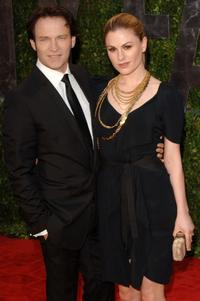 Stephen Moyer and Anna Paquin at the 2010 Vanity Fair Oscar party.