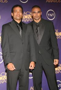 Mario Van Peebles and Shemar Moore at the 2006 Black Movie Awards.