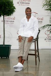 Shemar Moore at the photocall of 2007 Monte Carlo Television Festival.