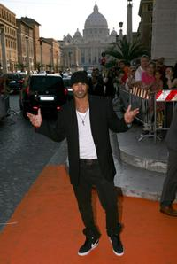 Shemar Moore at the Auditorium della Conciliazione for the opening day party of RomaFictionFest.