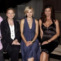 Dawn Ostroff, Kristen Bell and Charisma Carpenter at the UPN Stars Party.