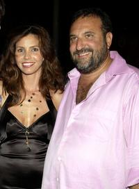 Charisma Carpenter and Joel Silver at the UPN Stars Party.