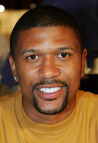 Jalen Rose at the preliminary preview of the 10th Annual Hooters International Swimsuit Pageant.