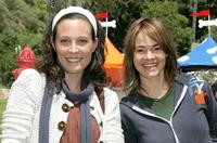 Erin Daniels and Leisha Hailey at the Old Navy's kick off event.