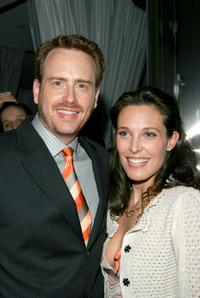 Robert Greenblatt and Erin Daniels at the after party of the premiere of