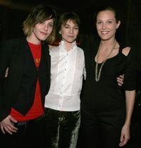 Katherine Moennig, Ilene Chaiken and Erin Daniels at the after party of the season three premiere of