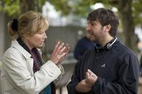 Emma Thompson and Director Joel Hopkins on the set of