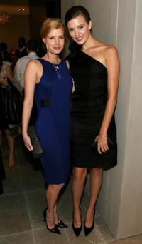 Judy Tylor and Maggie Grace at the Monique Lhuillier Salon.
