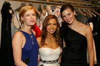 Judy Tylor, Monique Lhuillier and Maggie Grace at the Monique Lhuillier Salon.
