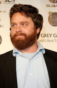 Zach Galifianakis at the Los Angeles Magazine's Comedy issue party.
