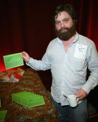 Zach Galifianakis at the Distinctive Assets gift lounge.