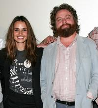 Nancy De Mayo and Zach Galifianakis at the 2008 AFI Fest special screening of