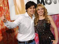 Yani Gellman and Hilary Duff at the premiere of