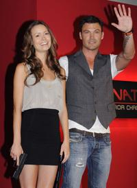 Summer Glau and Brian Austin Green at the press conference of