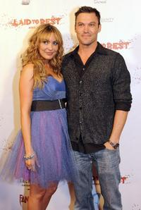 Bobbi Sue Luther and Brian Austin Green at the premiere of