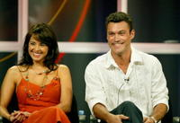 Jacqueline Obradors and Brian Austin Green at the panel discussion for