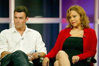 Brian Austin Green and Jenny Gago at the panel discussion for