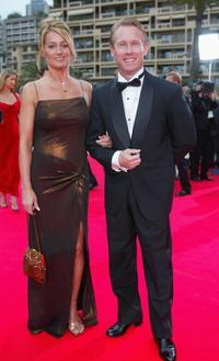 Nadia Comaneci and Bart Connor at the Laureus World Sports Awards Ceremony.