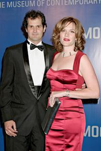 Catherine Dent and her husband at the MOCA 25 Years of Ground Breaking Art Achievements Anniversary Gala.
