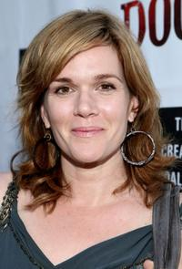 Catherine Dent at the premiere of
