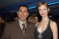 Mohammed al-Rehaief and Laura Regan at the world premiere screening of
