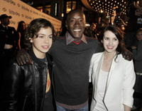 Jake T. Austin, Don Cheadle and Emma Roberts at the premiere of