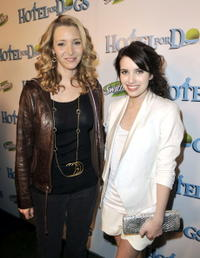 Lisa Kudrow and Emma Roberts at the premiere of