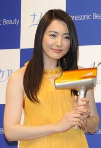 Yukie Nakama at the press preview of new products of UVs care hair dryer