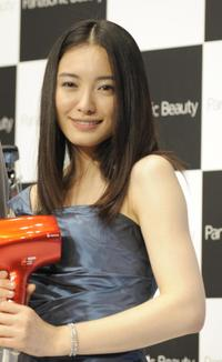 Yukie Nakama at the press preview of new Panasonic brand's Lamdash shaver and nano-care hair dryer.